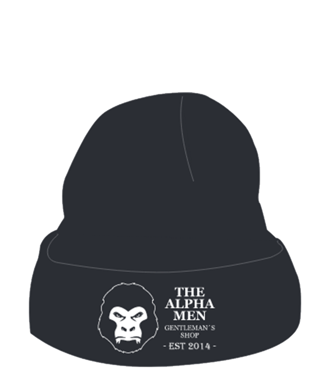 The Alpha Men Muts 'Knitted Solid Black'