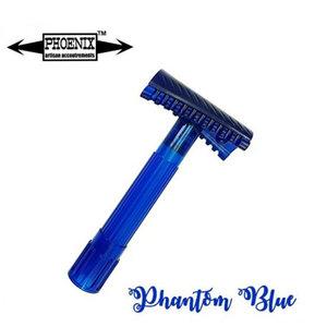 Phoenix Artisan Double Slant Safety Razor Open Comb - Phantom Blue