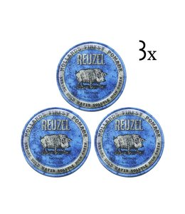 Reuzel Blue Strong Hold Pomade 3-pack