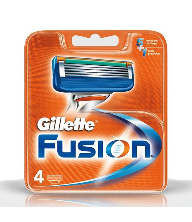 Gillette Fusion mesjes 4 stuks
