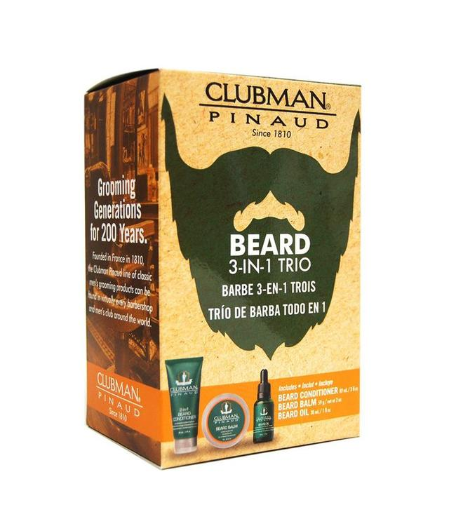 Clubman Pinaud 3-in-1 Beard Trio Gift Pack