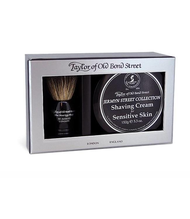 Taylor of Old Bond Street Giftbox Pure Badger & Shaving Cream Jermyn Street