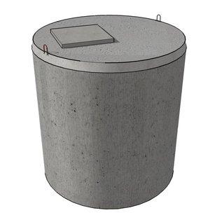 Huismerk Verstevigde betonnen kopplaat (3000L)