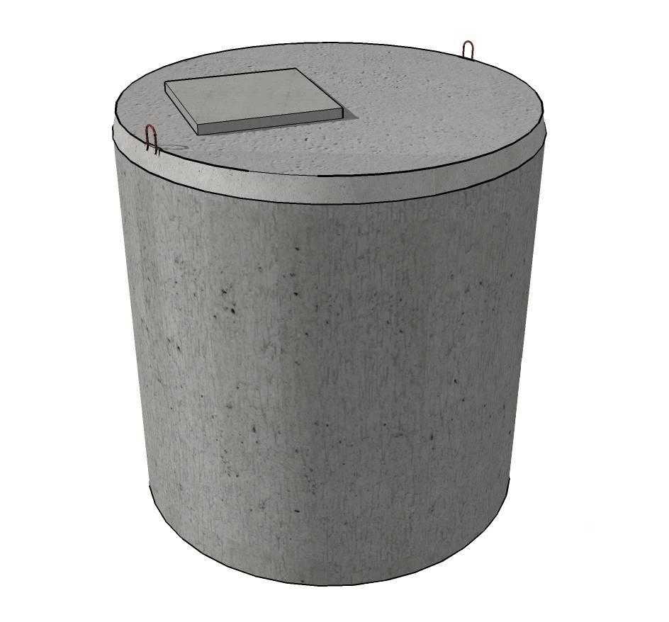Verstevigde betonnen kopplaat (3000L)