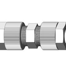 SERTO Rechte koppeling 6mm PVDF