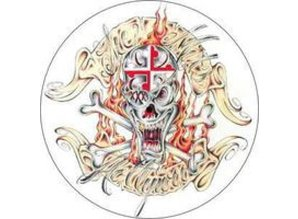 Slipmats with Skull print, by Sicmats, set of 2