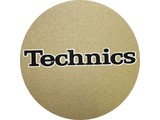 Technics Logo Black On Gold Slipmats
