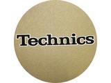 Technics Logo Black On Gold slipmatten