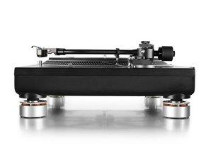Set van 4 Audio Isolation System voeten voor o.a. Technics SL1200 / SL1210 (zilver)