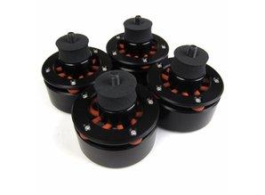 Set van 4 Audio Isolation System voeten voor o.a. Technics SL1200 / SL1210 (zwart)