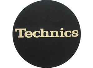Technics Logo Gold on Black by Slipmat Factory