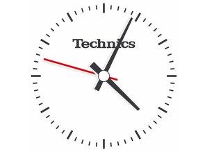 Technics Logo 'Time' slipmatten van Slipmat Factory