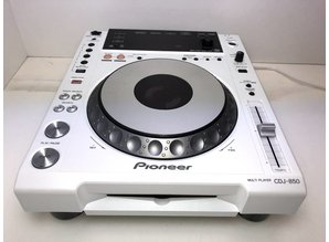 White Pioneer CDJ-850 Single Frontloader CD-Player