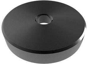 """Zwarte 45 RPM adapter voor 7"""" singles"""