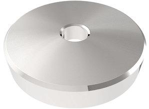 """Zilverkleurige 45 RPM adapter voor 7"""" singles"""