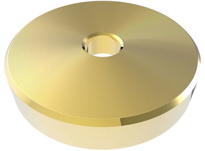"""Gold(colour) 45 RPM adapter for 7"""" singles"""