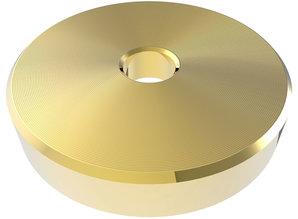 """Goudkleurige 45 RPM adapter voor 7"""" singles"""