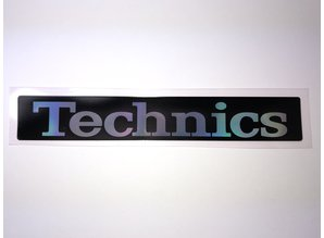 Reproductie sticker met Technics logo