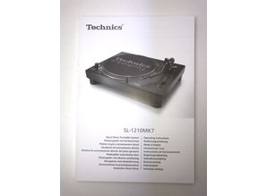 Original Operating Instructions for the new SL-1210 MK7 turntable