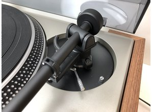 Technics SL-120 turntable with Rega arm and wooden plinth