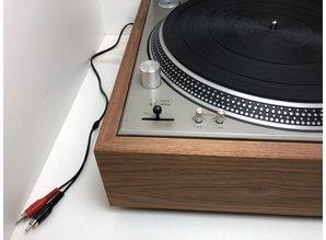 Technics SL-1200 draaitafel met Rega arm en houten plinth