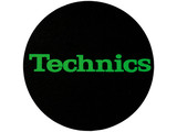 Technics Logo Green On Black Slipmats