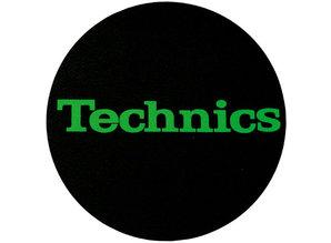 Technics Logo Green On Black slipmatten van Slipmat Factory