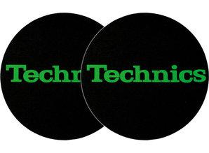 Technics Logo Green On Black by Slipmat Factory