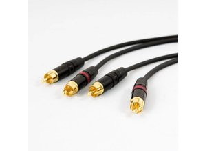 Tasker afgeschermde signaalkabel met REAN connectors, 2x RCA naar 2x RCA (3m)