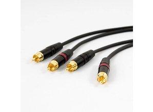 Tasker afgeschermde signaalkabel met REAN connectors, 2x RCA naar 2x RCA (1,5m)