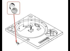 Gebruikte Naaldverlichting Ornament voor Technics SL1200 of SL1210