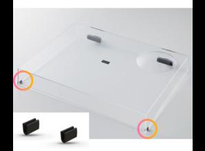 Set van 2 stofkap rubbers voor Technics SL-1200 / SL-1210 (voorkant)