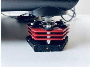 Custom Technics SL 1210 MK2 draaitafel met Hi-fi modificaties