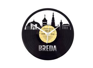 Vinylclock with landmarks from DJ city Breda