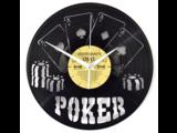 Poker Vinyl Clock