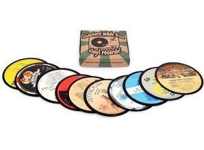 10 Coasters, made from real records