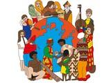 45 Wereld Muziek platen (partij)