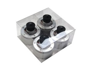 Set of 4 Audio Isolation System Feet for all Technics SL1200 / SL1210 (silver)