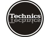 Technics Mirror White on Black slipmatten