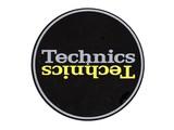 Technics Mirror Yellow on Black Slipmats