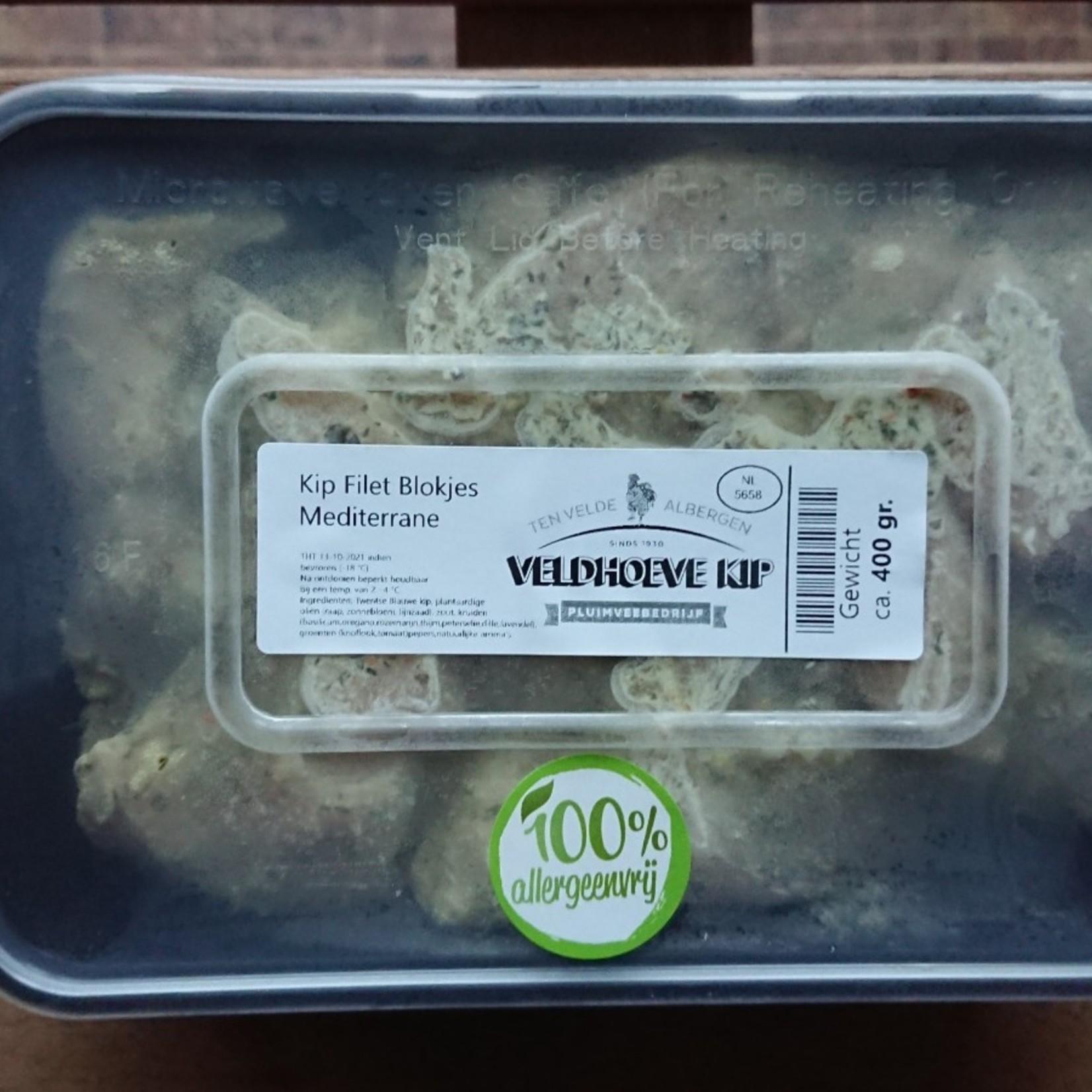 Twentse Blauwe filetblokjes Asia en Gember limoen chili en Mediterrane