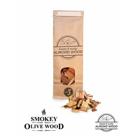 Smokey Olive Wood Amandel hout rookchips No 3
