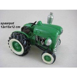 Spaarpot tractor groen