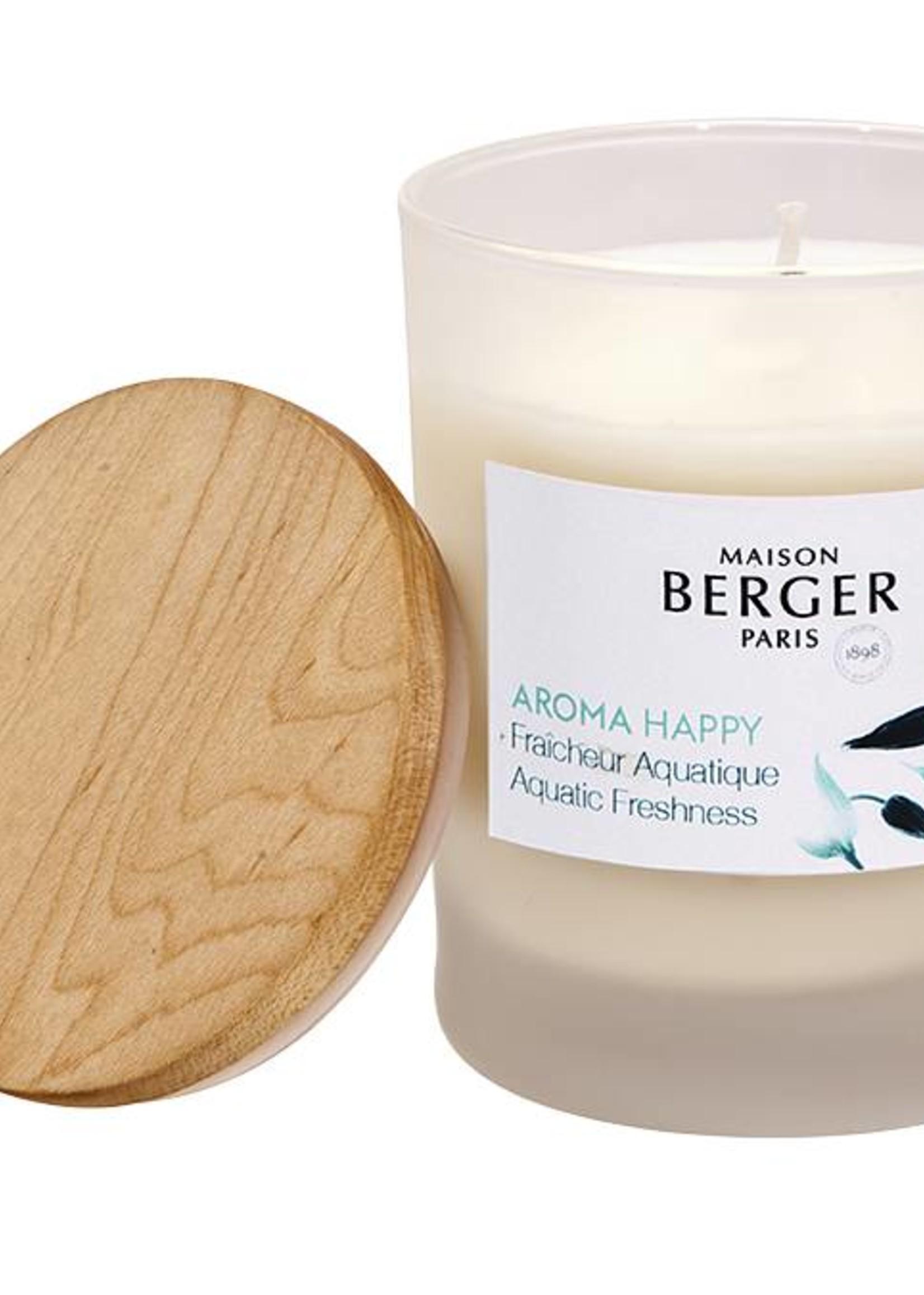 Lampe Berger Kaars Aroma Happy Fraîcheur Aquatique