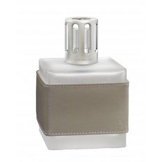 Cube cuir grise