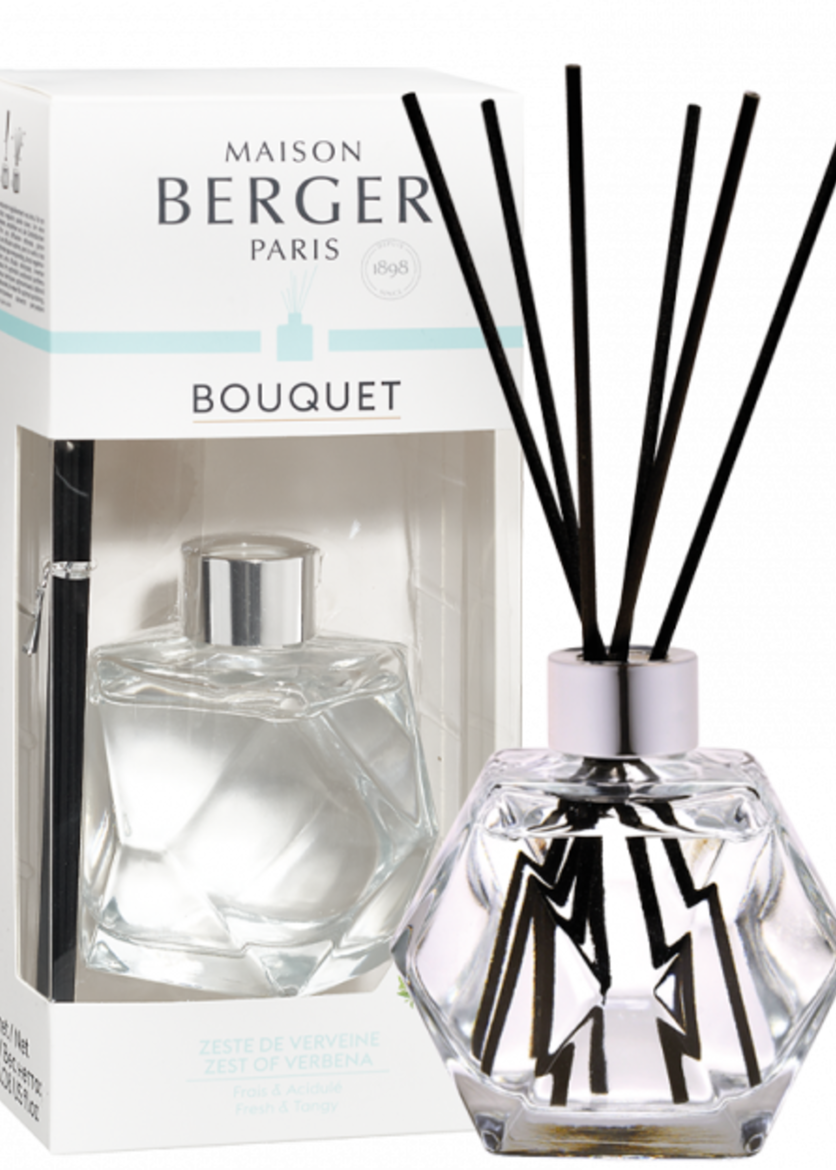 Parfum de Berger Parfumverspreider Geometry Transparente & Zeste de Verveine