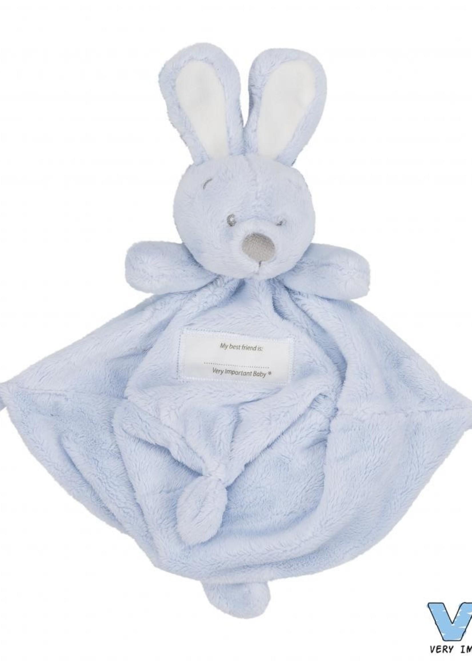 VIB Knuffeldoekje met konijnenhoofd licht blauw