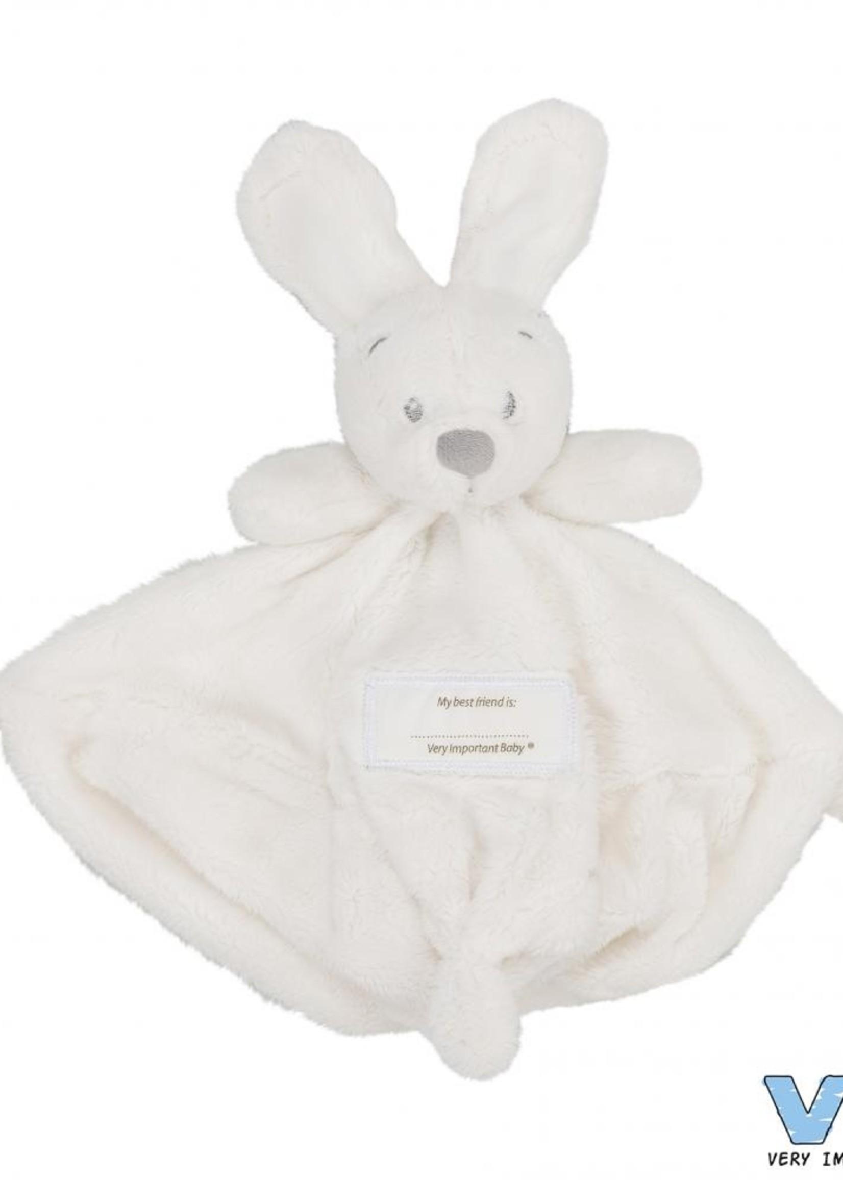 VIB Knuffeldoekje met konijnenhoofd creme