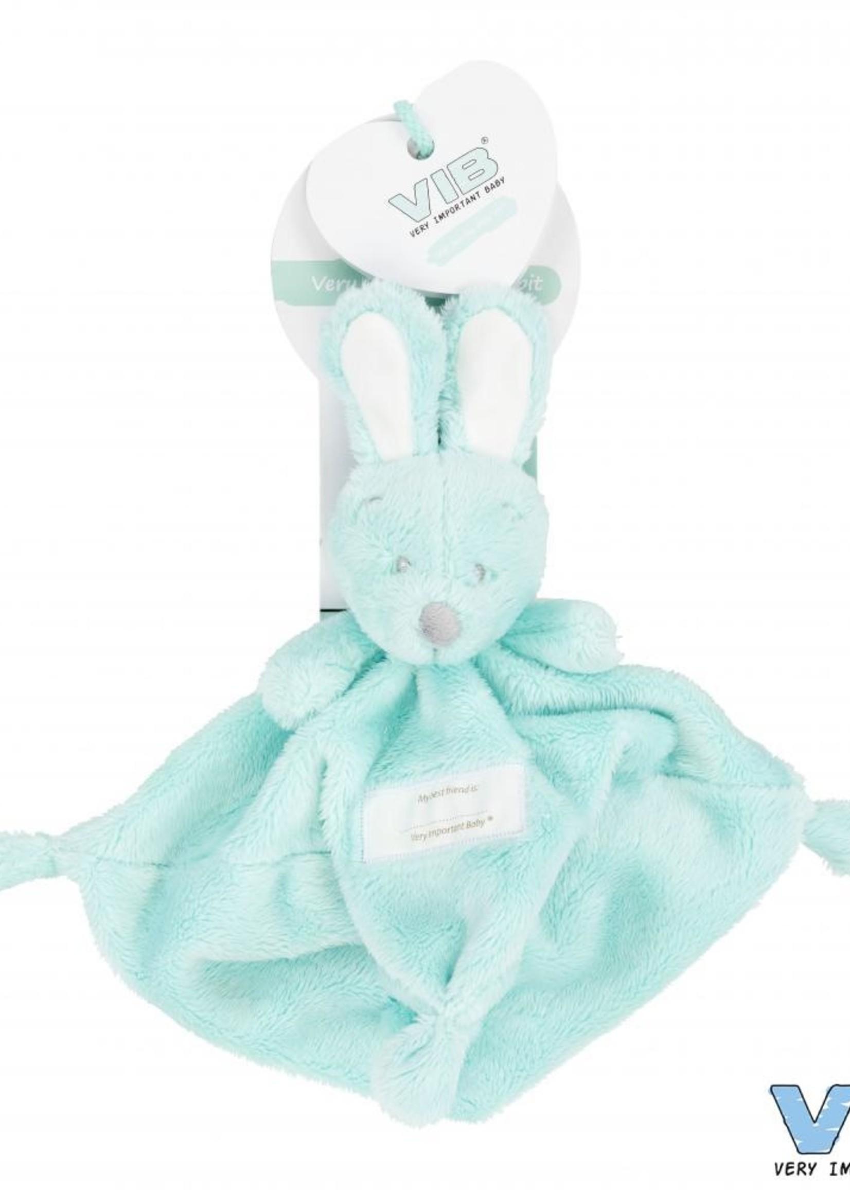VIB Knuffeldoekje met konijnenhoofd mint
