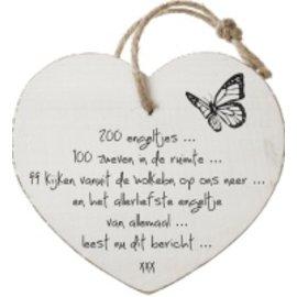 Houten hart: 200 engeltjes...